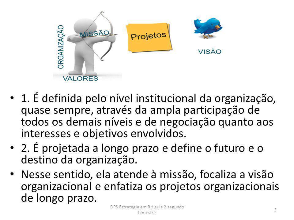 3.Envolve a empresa em sua totalidade para obtenção de efeitos sinergísticos.