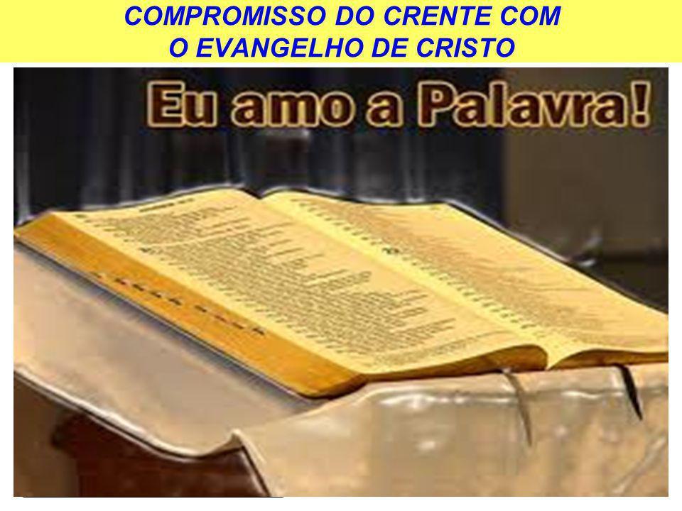 COMPROMISSO DO CRENTE COM O EVANGELHO DE CRISTO AMEAÇA EXTERNA AMEAÇA INTERNA
