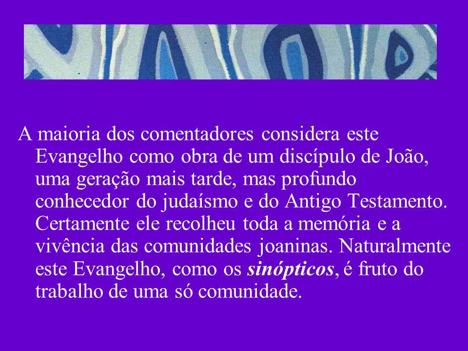 A maioria dos comentadores considera este Evangelho como obra de um discípulo de João, uma geração mais tarde, mas profundo conhecedor do judaísmo e d