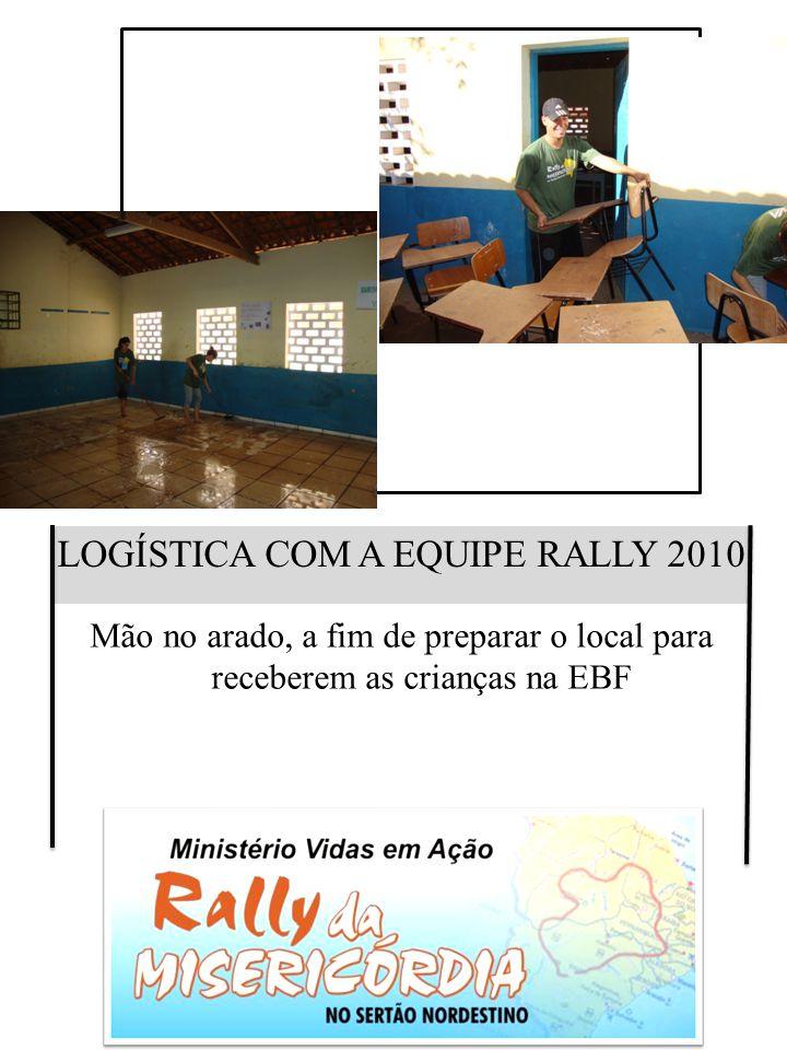 ESPORTE E EVANGELISMO Missionário Voluntário Willian desenvolvendo área esportiva com apoio do Missionário Calebe
