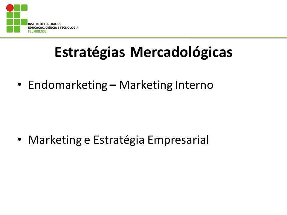 Estratégias Mercadológicas Endomarketing – Marketing Interno Marketing e Estratégia Empresarial