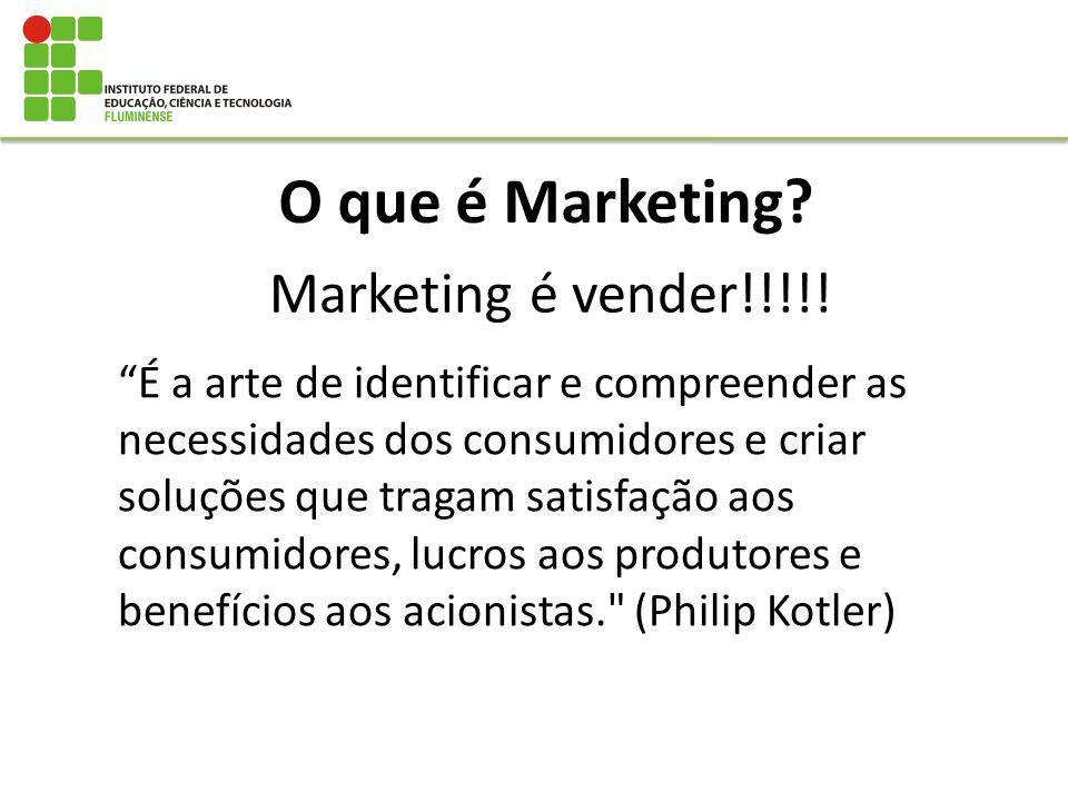 O que é Marketing? É a arte de identificar e compreender as necessidades dos consumidores e criar soluções que tragam satisfação aos consumidores, luc
