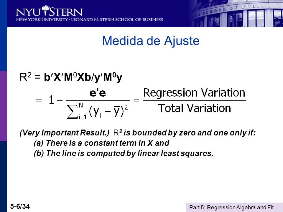 Part 5: Regression Algebra and Fit 5-27/34 Restricted Least Squares