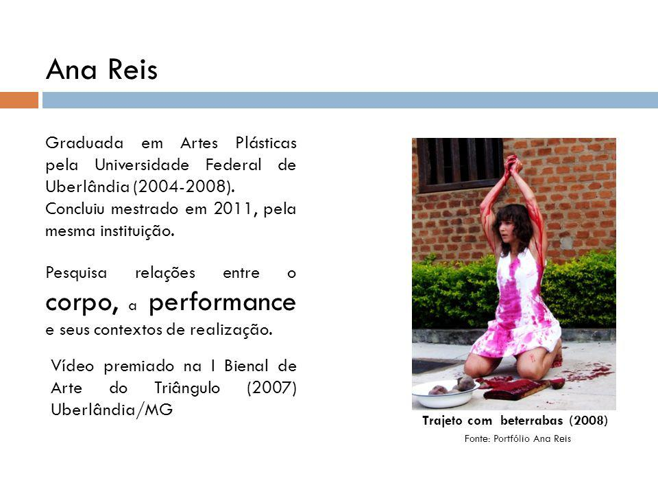 Ana Reis Graduada em Artes Plásticas pela Universidade Federal de Uberlândia (2004-2008).