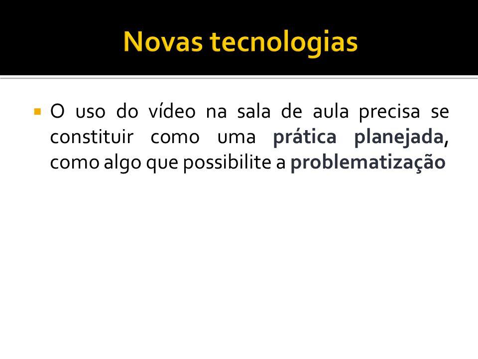 Apresenta possibilidades de uso do vídeo na sala de aula: Sensibilização: motivar Simulação: estimula experiências Ilustração: esclarece questões Conteúdo de ensino: determinado assunto