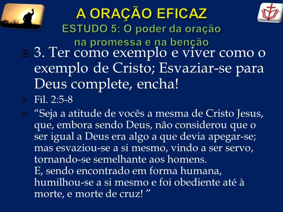 Conclusão: Prospera nossas iniciativas; especialmente, dê sucesso a nossos esforços de fazer conhecido Teu Evangelho em nosso meio.