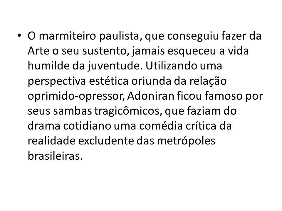 Os últimos acontecimentos da política gaúcha fazem recordar o sambista da Maloca, que já explicitava os interesses econômico-políticos expressos juridicamente nos processos de despejo das comunidades carentes, no decorrer da história brasileira.