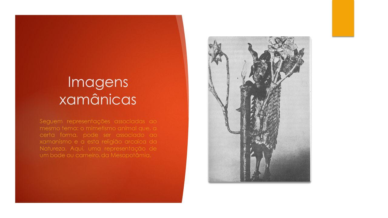 Imagens xamânicas Seguem representações associadas ao mesmo tema: o mimetismo animal que, a certa forma, pode ser associado ao xamanismo e a esta reli