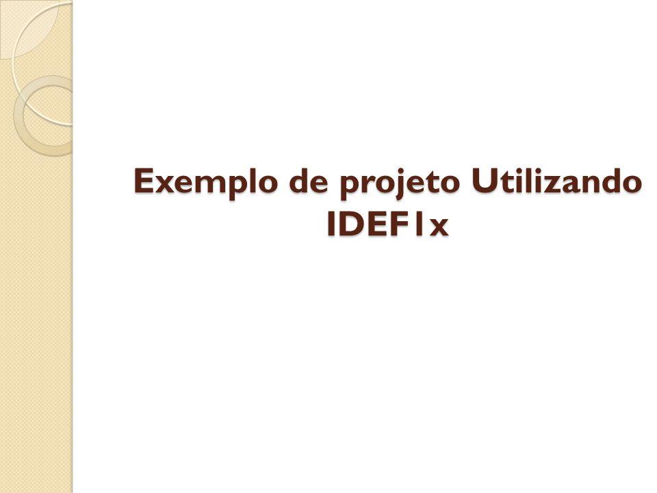Exemplo de projeto Utilizando IDEF1x