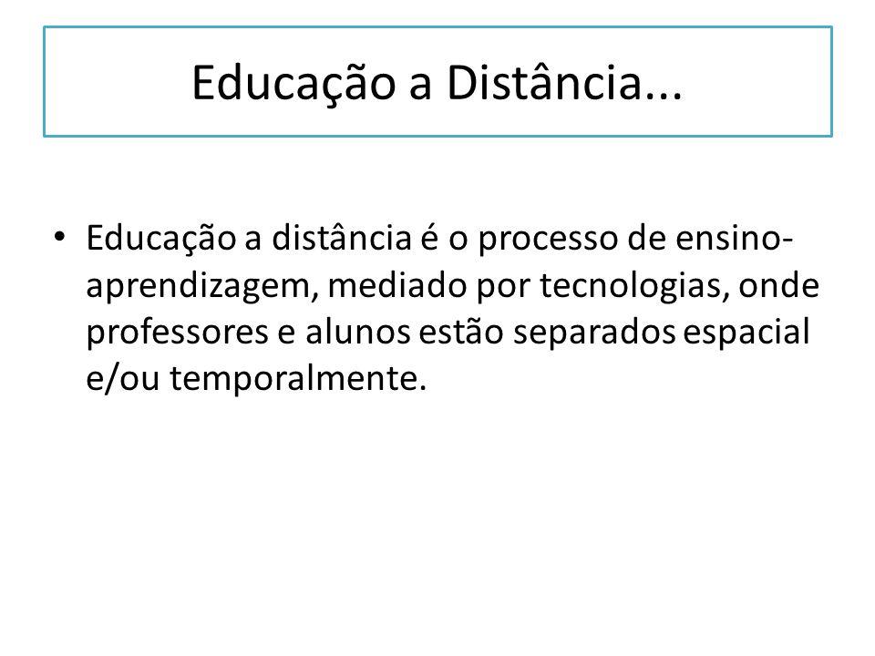 Educação a Distância...