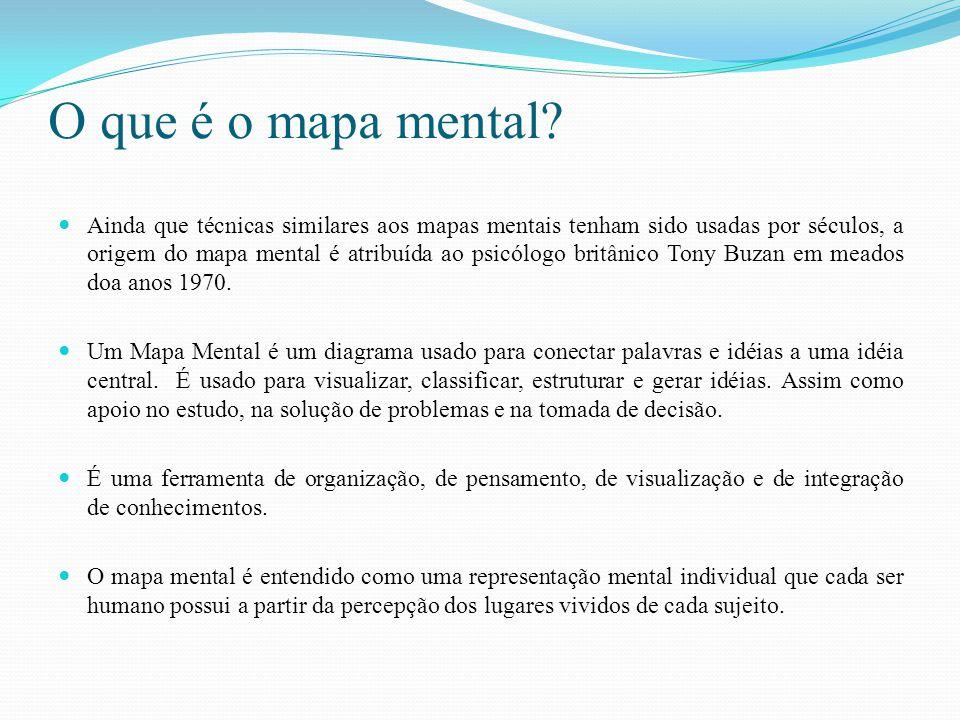 O que é o mapa mental? Ainda que técnicas similares aos mapas mentais tenham sido usadas por séculos, a origem do mapa mental é atribuída ao psicólogo