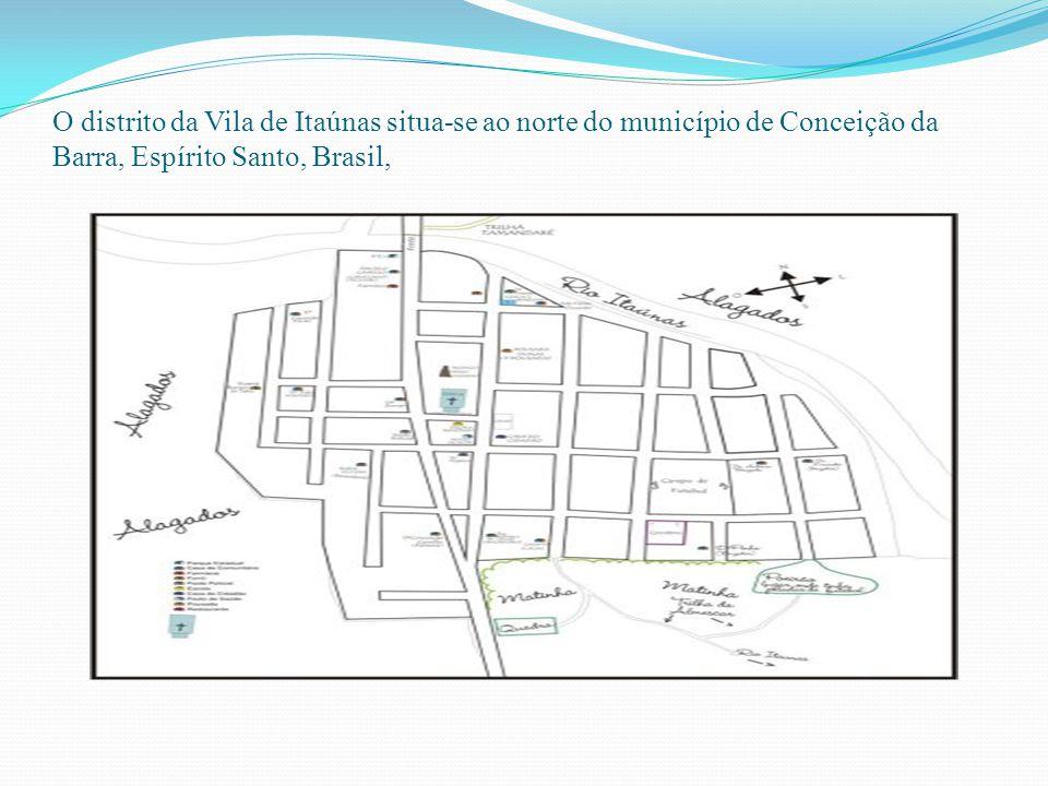 O distrito da Vila de Itaúnas situa-se ao norte do município de Conceição da Barra, Espírito Santo, Brasil,