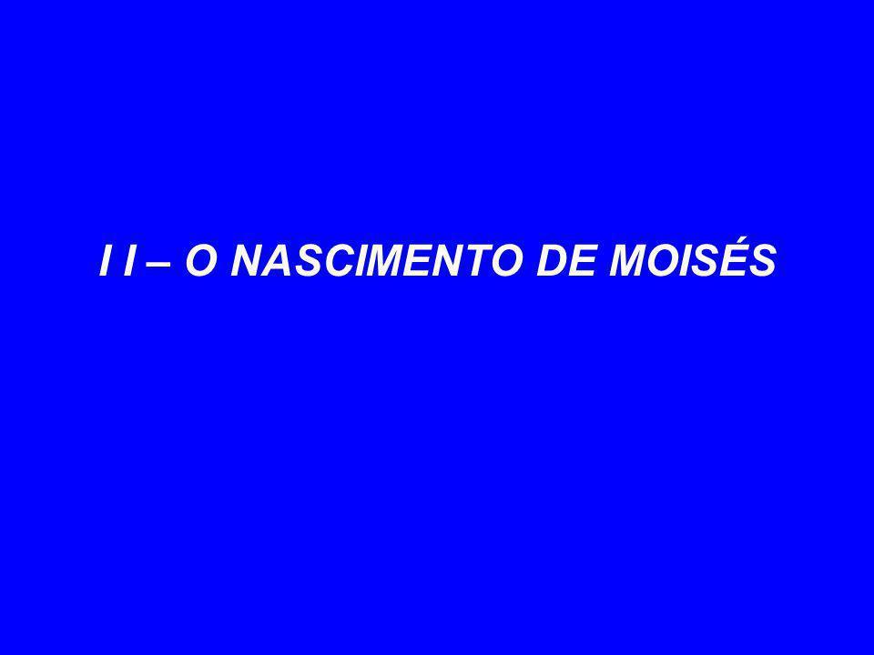 I I – O NASCIMENTO DE MOISÉS