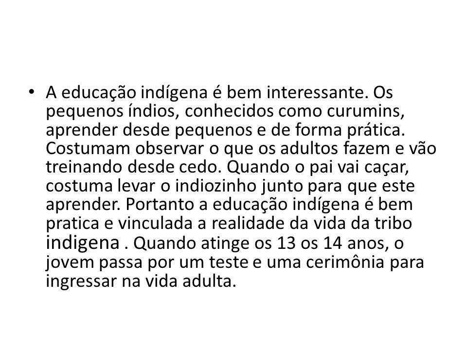 Algumas tribos eram canibais como, por exemplo, os tupinambás que habitavam o litoral da região sudeste doBrasil.