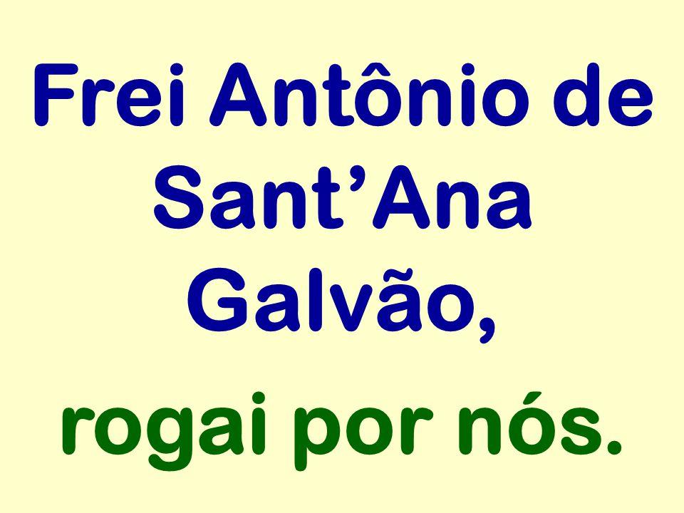 Frei Antônio de SantAna Galvão, rogai por nós.