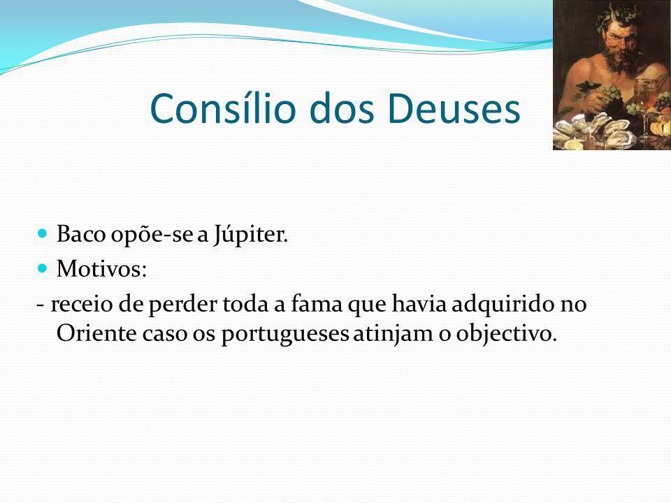 Consílio dos Deuses Vénus que defende os portugueses.