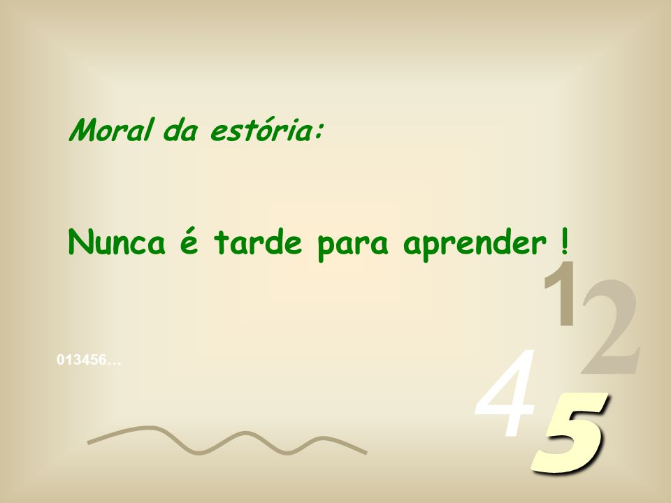 013456… 1 2 4 5 Zero ângulos!