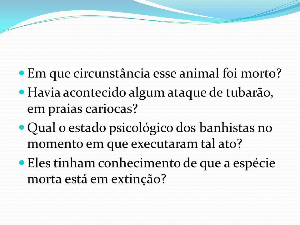 Em que circunstância esse animal foi morto.