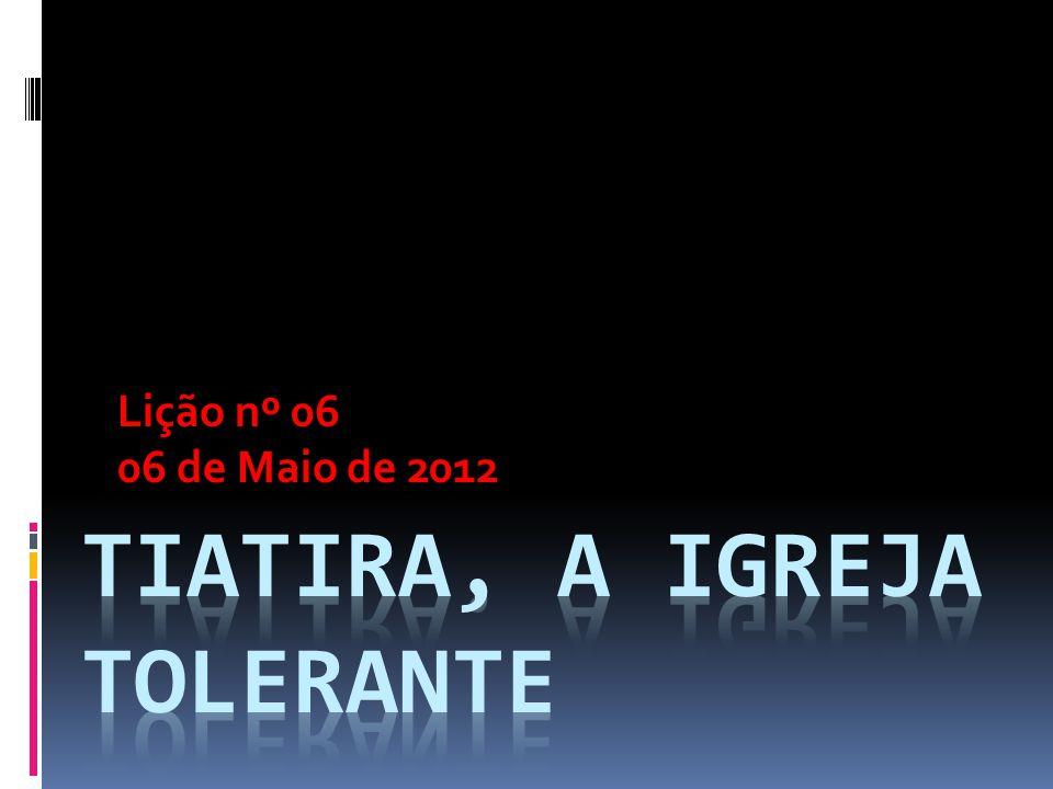 Lição nº 06 06 de Maio de 2012