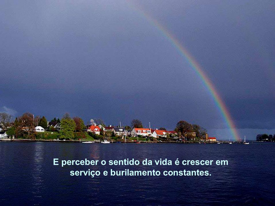 Conhecer, portanto, a verdade é perceber o sentido da vida.