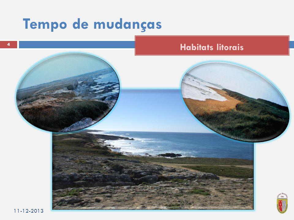 Tempo de mudanças 11-12-2013 4 Habitats litorais