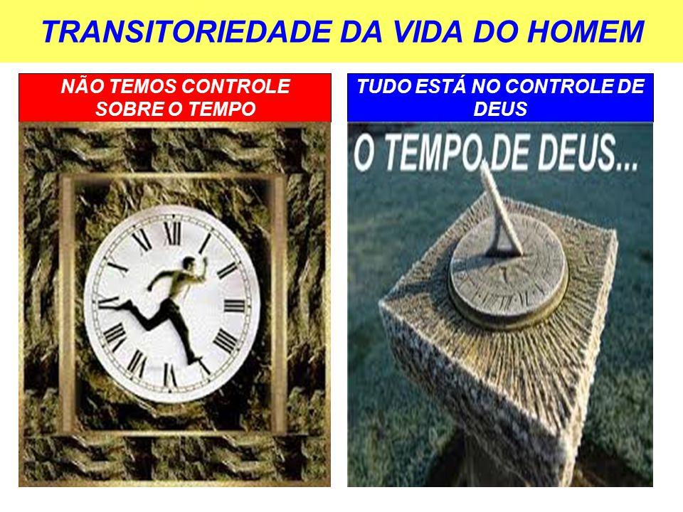 TRANSITORIEDADE DA VIDA DO HOMEM NÃO TEMOS CONTROLE SOBRE O TEMPO TUDO ESTÁ NO CONTROLE DE DEUS