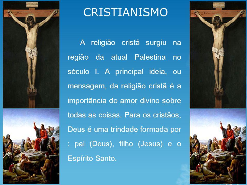 CRISTIANISMO A religião cristã surgiu na região da atual Palestina no século I.