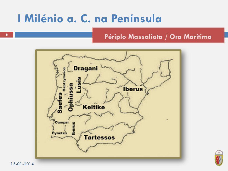 I Milénio a. C. na Península 15-01-2014 7 Tartesso Rota comercial