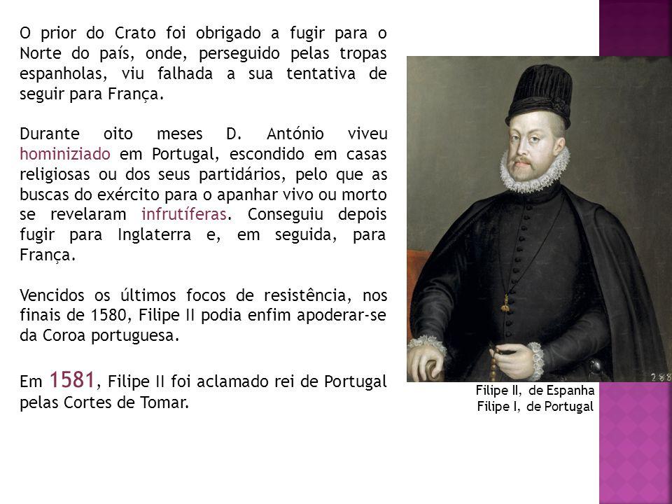 O prior do Crato foi obrigado a fugir para o Norte do país, onde, perseguido pelas tropas espanholas, viu falhada a sua tentativa de seguir para Franç