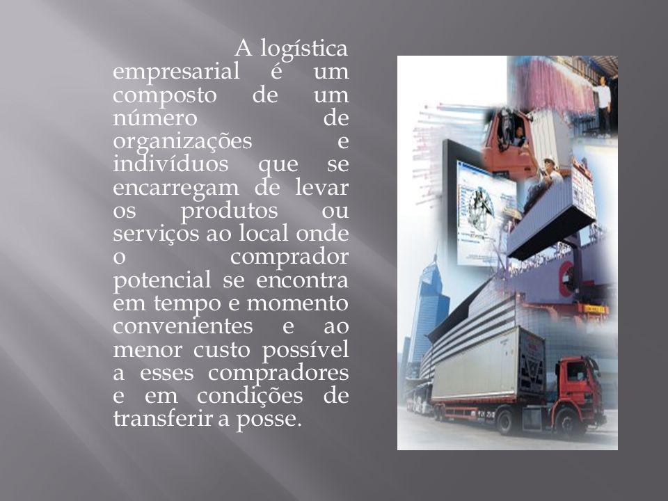 A logística empresarial é um composto de um número de organizações e indivíduos que se encarregam de levar os produtos ou serviços ao local onde o com