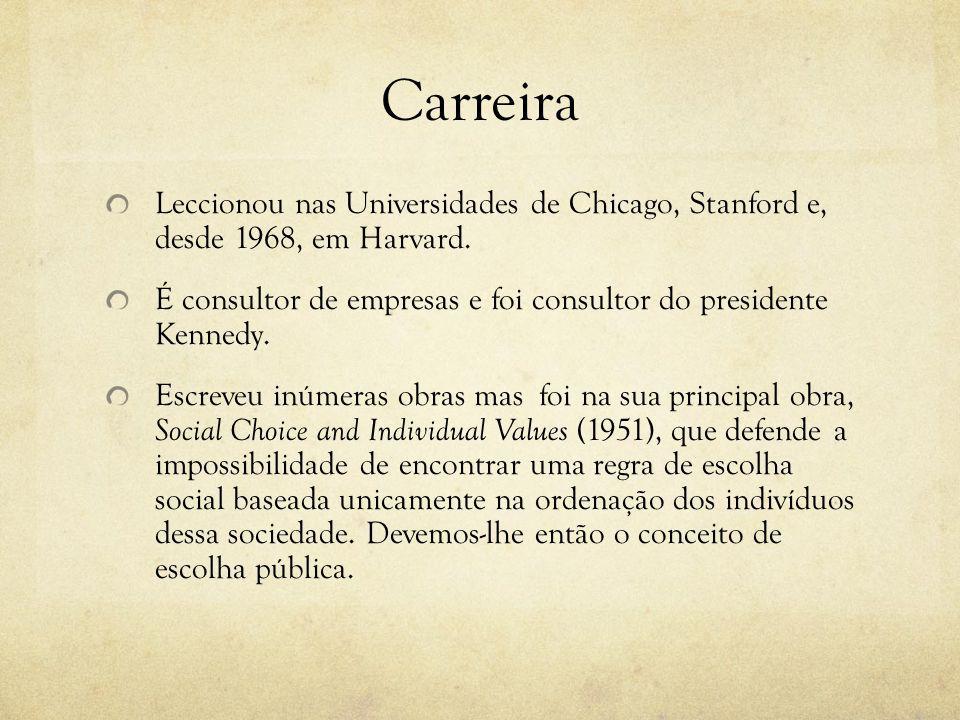 Carreira Leccionou nas Universidades de Chicago, Stanford e, desde 1968, em Harvard. É consultor de empresas e foi consultor do presidente Kennedy. Es