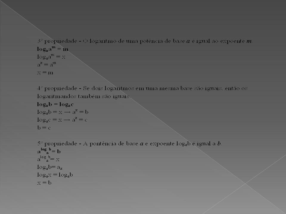 EXERCICIOS 1)Calcule o log101,4, dados log102 = 100,301 e log107 = 100,845 2)O conjunto solução da equação logarítmica log4 (x+x²)=1/2.