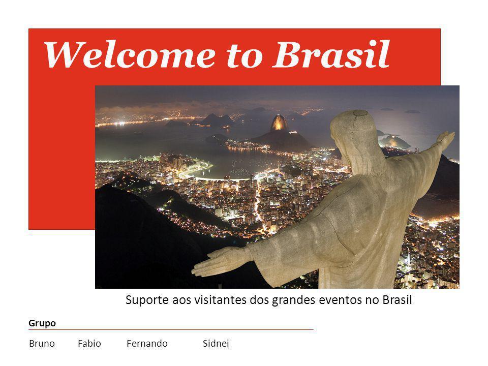 Welcome to Brasil Suporte aos visitantes dos grandes eventos no Brasil Grupo BrunoFabioFernando Sidnei