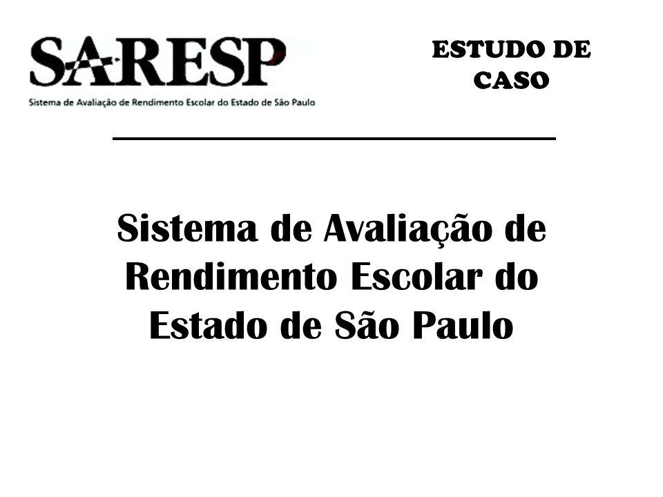Sistema de Avaliação de Rendimento Escolar do Estado de São Paulo ESTUDO DE CASO