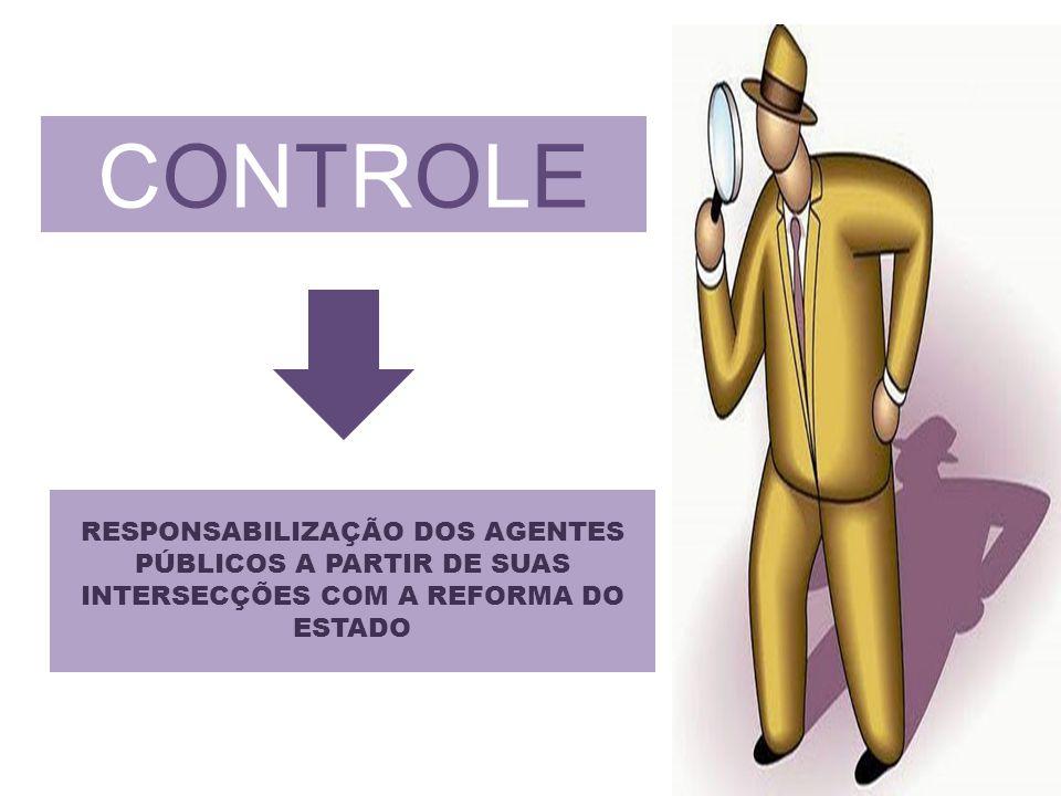CONTROLECONTROLE RESPONSABILIZAÇÃO DOS AGENTES PÚBLICOS A PARTIR DE SUAS INTERSECÇÕES COM A REFORMA DO ESTADO