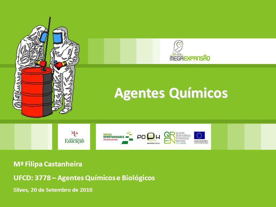 Mª Filipa Castanheira UFCD: 3778 – Agentes Químicos e Biológicos Silves, 20 de Setembro de 2010 Agentes Químicos