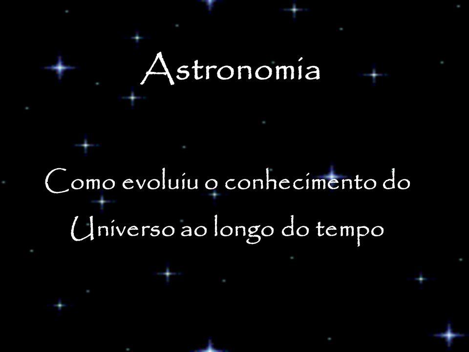 Como evoluiu o conhecimento do Universo ao longo do tempo Astronomia