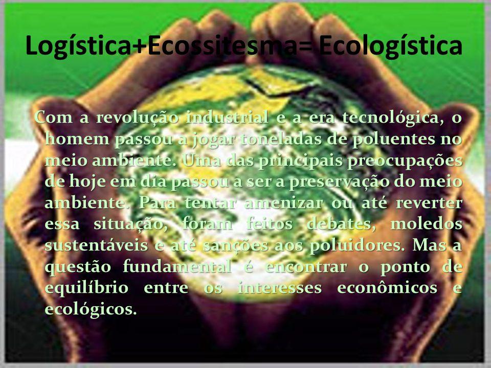 LOGÍSTICA E O MEIO AMBIENTE A preservação do meio ambiente está diretamente ligada a sistemas logísticos.
