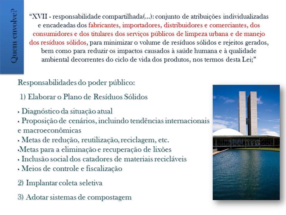 XVII - responsabilidade compartilhada(...): conjunto de atribuições individualizadas e encadeadas dos fabricantes, importadores, distribuidores e come