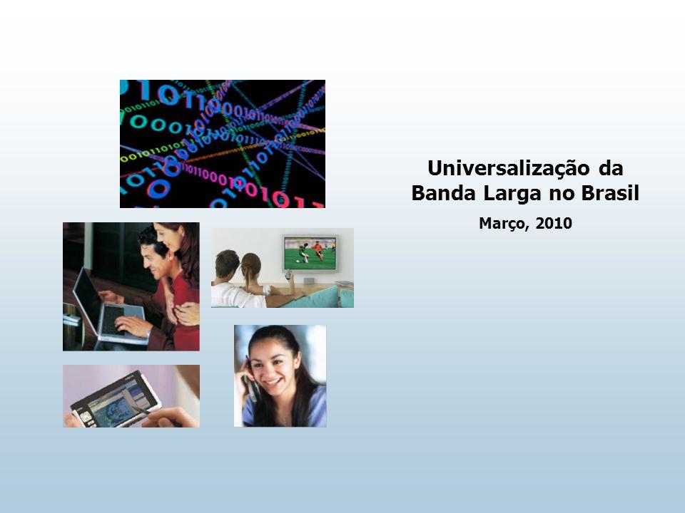 Universalização da Banda Larga no Brasil Março, 2010