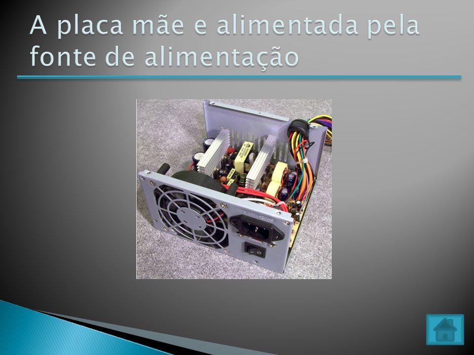 Placa mãe Memória ROM Memória RAMprocessador Memória cache Disco rígido