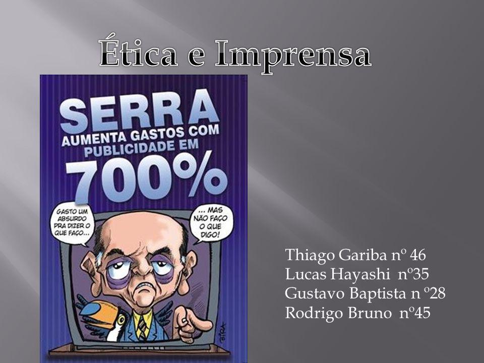 Thiago Gariba nº 46 Lucas Hayashi nº35 Gustavo Baptista n º28 Rodrigo Bruno nº45