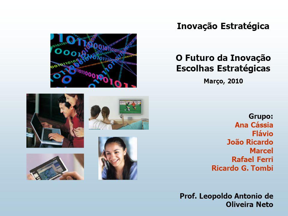 Inovação Estratégica O Futuro da Inovação Escolhas Estratégicas Março, 2010 Grupo: Ana Cássia Flávio João Ricardo Marcel Rafael Ferri Ricardo G. Tombi