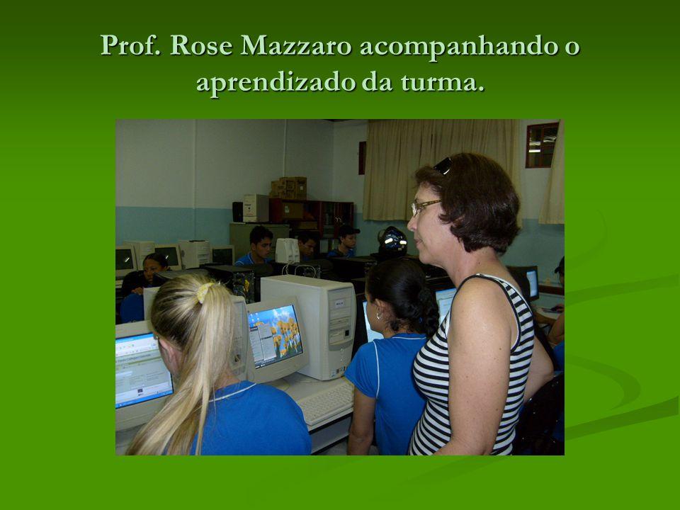 Prof. Rose Mazzaro acompanhando o aprendizado da turma.