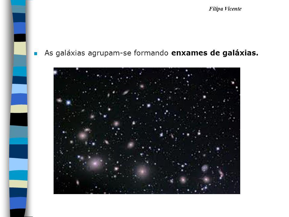 Filipa Vicente nAnAs galáxias agrupam-se formando enxames de galáxias.