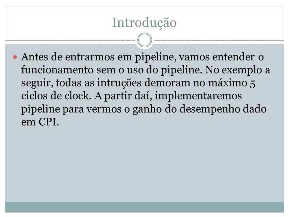 Problemas no Pipeline Podem ocorrer problemas que impedem a execução do fluxo de instruções.