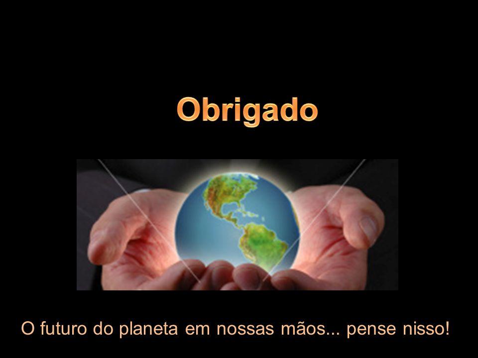 O futuro do planeta em nossas mãos... pense nisso!