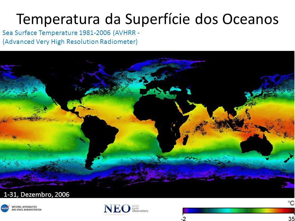 Temperatura da Superfície dos Oceanos 1-31, Agosto, 2010 Sea Surface Temperature 2002+ (AMSR-E - Advanced Scanning Microwave Radiometer for EOS; Aqua Satellite, NASA & JAXA)