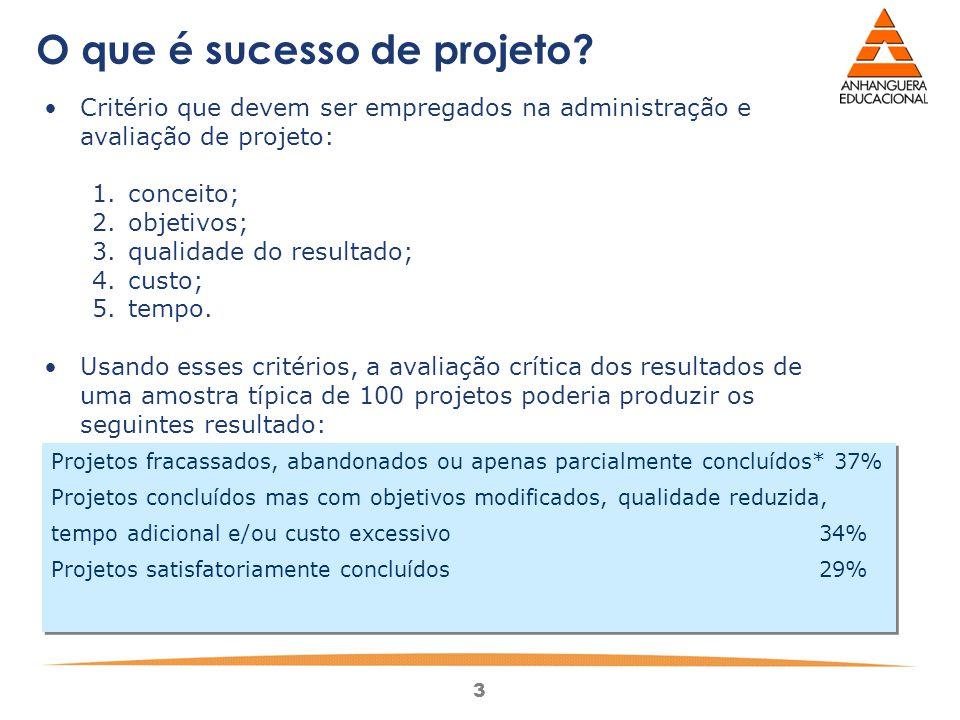 3 O que é sucesso de projeto.