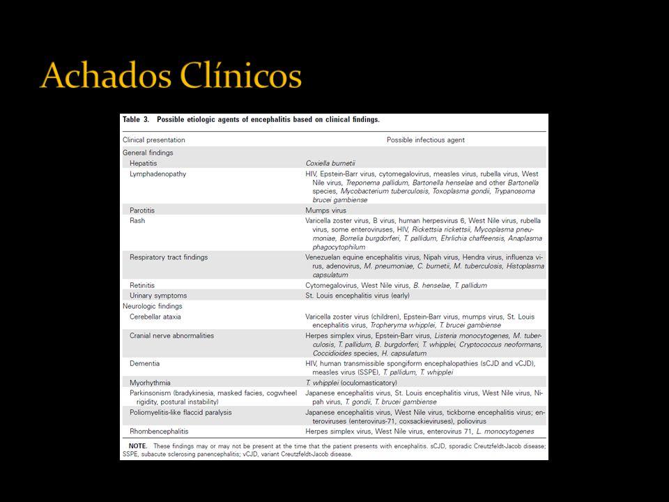 A avaliação diagnóstica de pacientes com encefalite deve incluir exame de neuroimagem: RM ou TC.